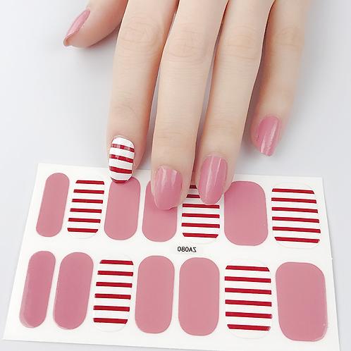 Love Stripe Gel Nail Wraps
