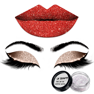 Face Lip and Eye Glitter Lexi Noel Beauty