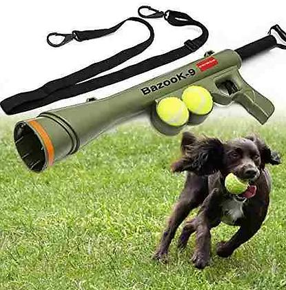 Lanzador De Bola Oxgord Bazook-9 Tenis Pistola Con 2 Bolas