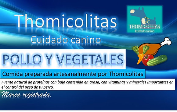 Dieta Barf Pollo y Vegetales 300gr