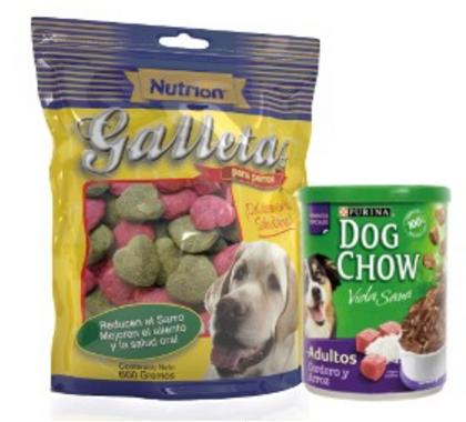 NUTRION GALLETAS + DOG CHOW LATA