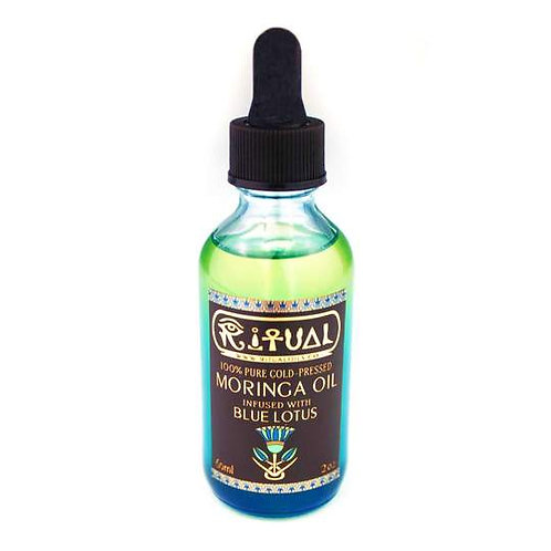 Ritual Oils - 100% Pure Cold-Pressed Moringa Oil Infused With Blue Lotus - 60ml