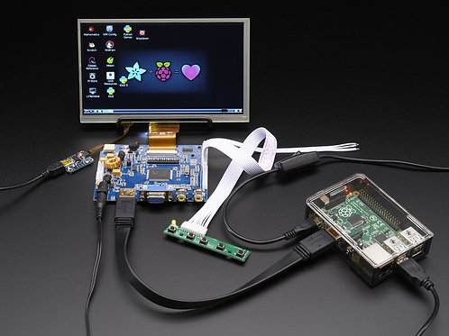 """7"""" HDMI Display & Audio with Touch  (1024x600)"""