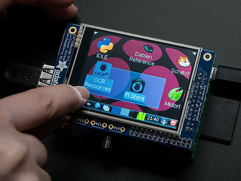 """PiTFT - Assembled 320x240 2.8"""" TFT+Touchscreen"""