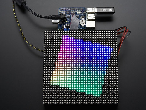 RGB Matrix HAT + RTC for Raspberry Pi