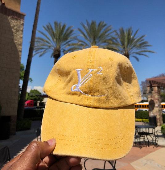 """YL2 """"Logo"""" Dad Hat - Mango Yellow"""