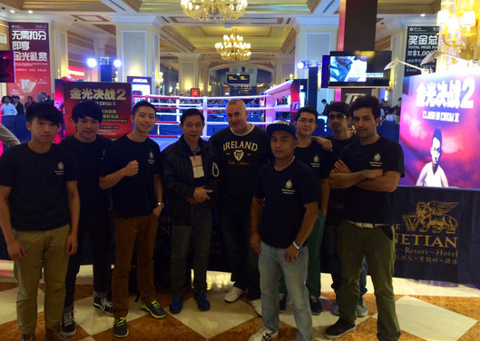 Breakthrough Boxing team in macau to watch Manny Pacquaio Fight.