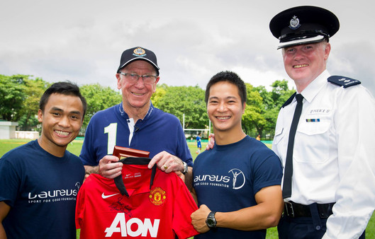 When the Manchester United Legend Visited Operation Breakthrough