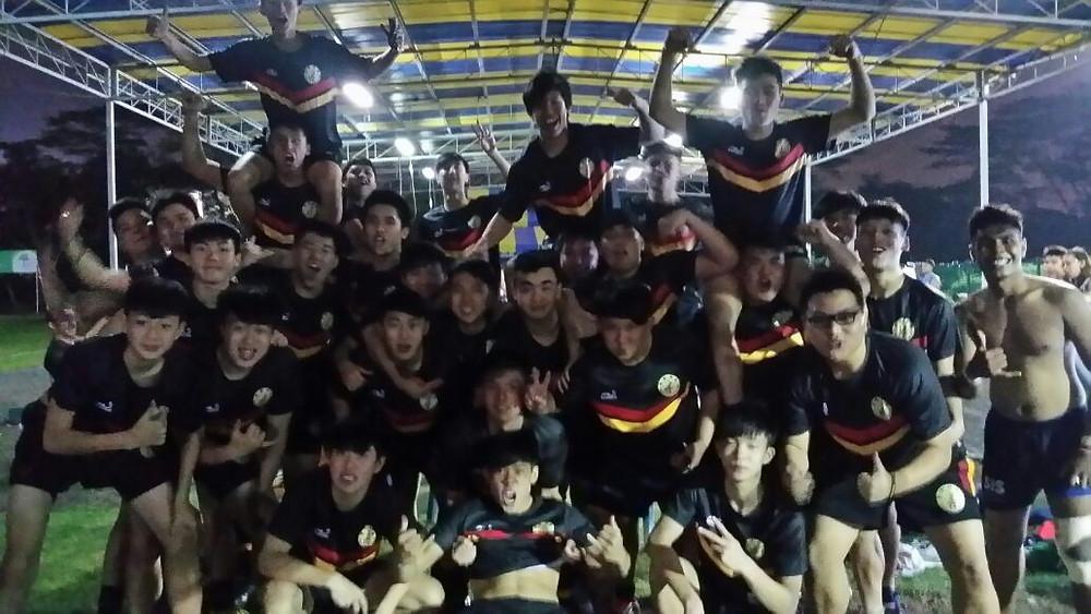 The Breakthrough Team celebrate despite the frustration of having the game cut short.