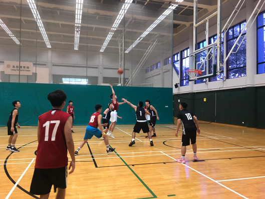 Friendly match between Breakthrough Basketball & Adidas volunteers