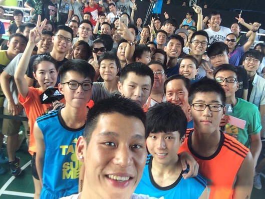 OB Basketball boys meets NBA Player Jeremy Lin