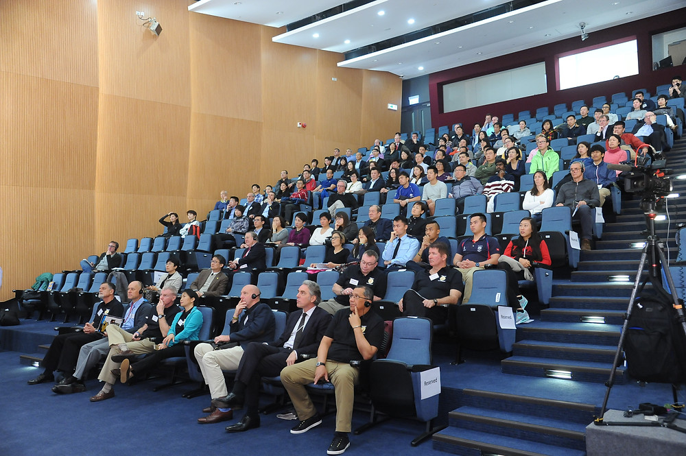 """""""Sport can change lives"""" attendees. More than 200 delegates attend during the day."""