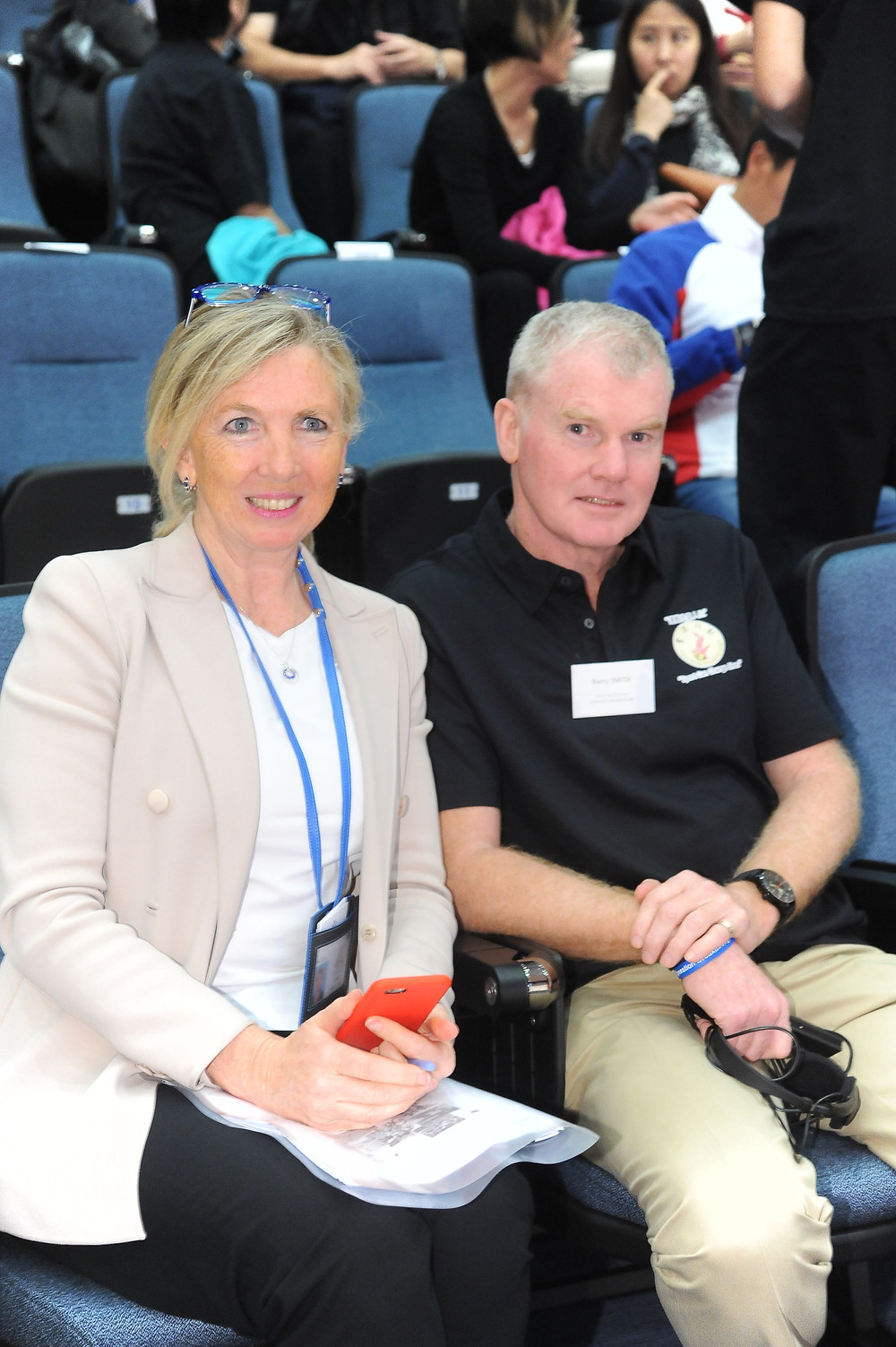 Operation Breakthrough Executive Director Mr Barry Smith and Dr Trisha Leahy