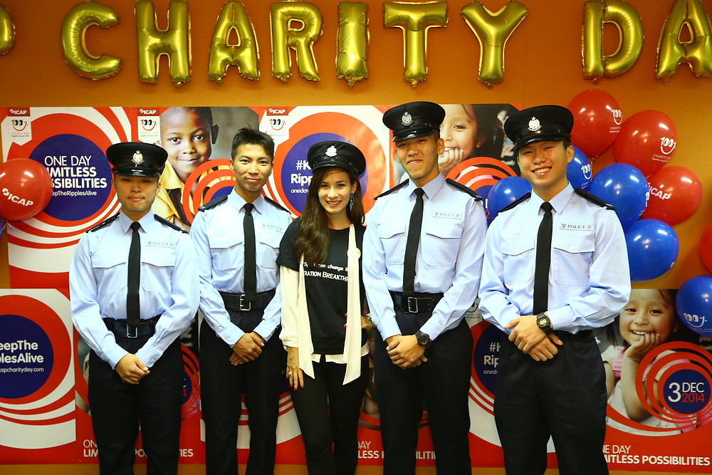ICAP Charity Day: Film star Celina Jade with Breakthrough newly qualified Police officers- Dec 3, 2014