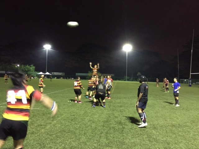 First Half action against Tomoko Lions