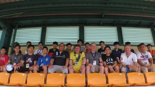Soccer 7's visit for Breakthrough Football players