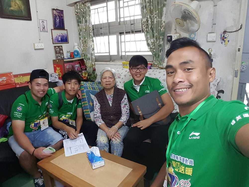 Ivan and sures with breakthrough boys visiting old people.