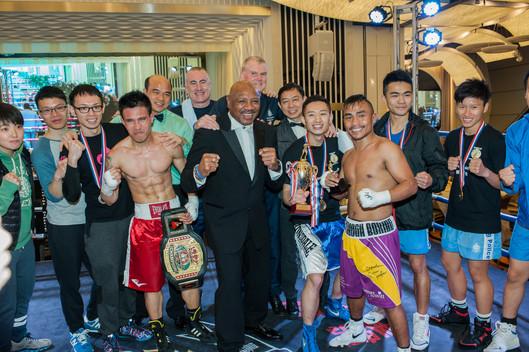 Marvelous Marvin Hagler attends Charity Boxing Dinner