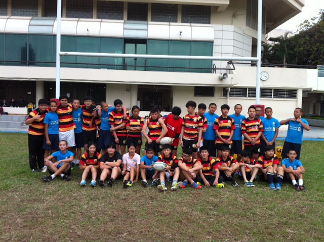 Tuen Mun home Boys and breakthrough team after touch game.