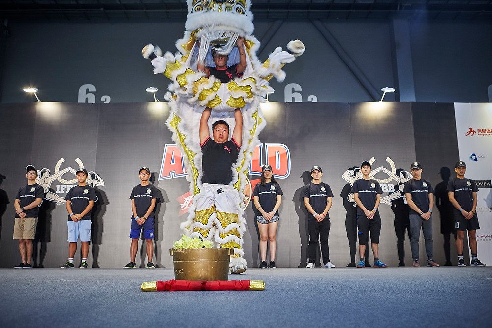 Operational Breakthrough Kids as part of ceremonial guard for the Lion Dance.