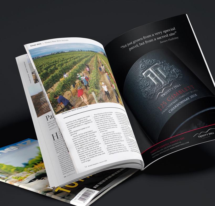 Trinity Hill Single Vineyard Wine NZ adv