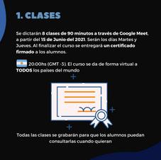 Información de las clases