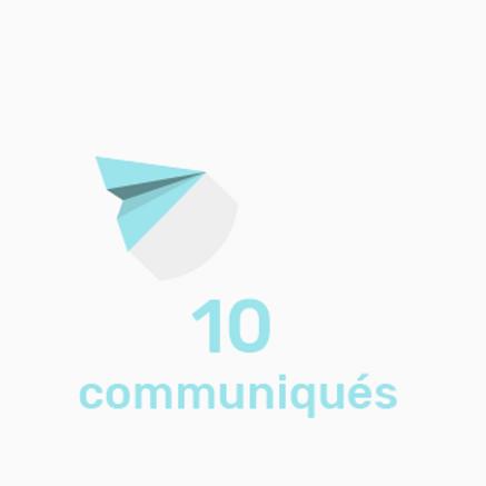 Diffusion de 10 communiqués
