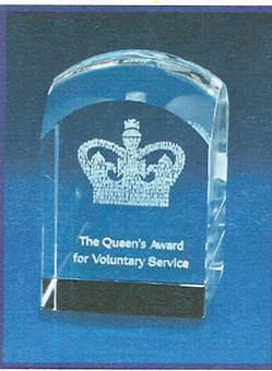 queens award for voluntary service -monu