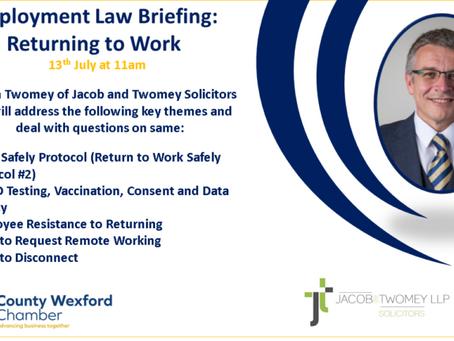 Returning to Work Webinar: Video