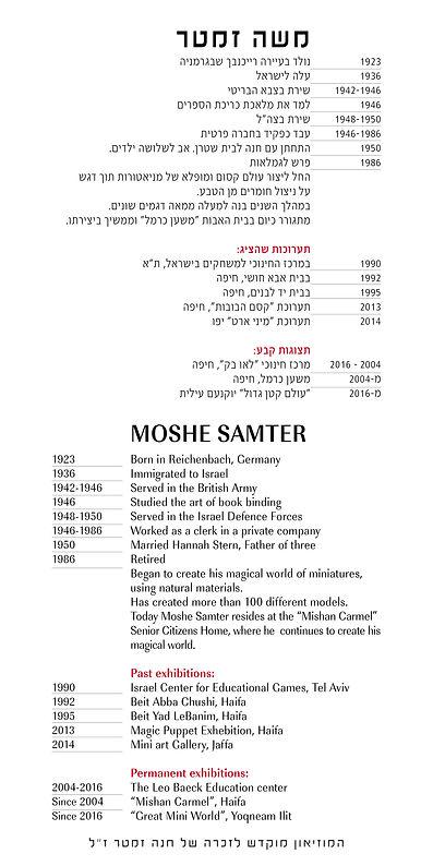 about the artist Moshe Samter