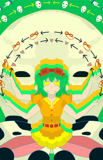 10-faced Gumi Megpoid Poster