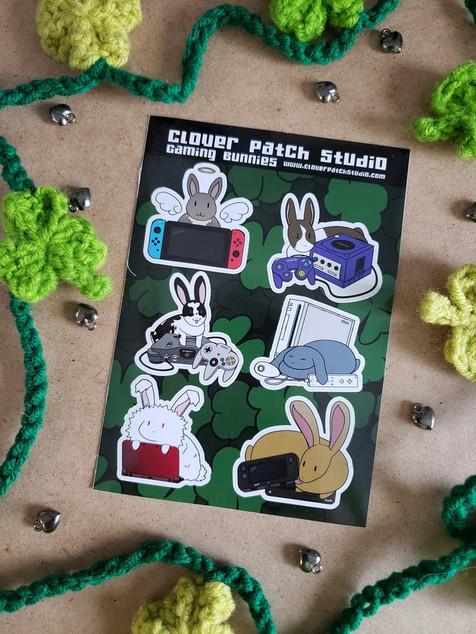 Gaming Bunnies Sticker Sheet