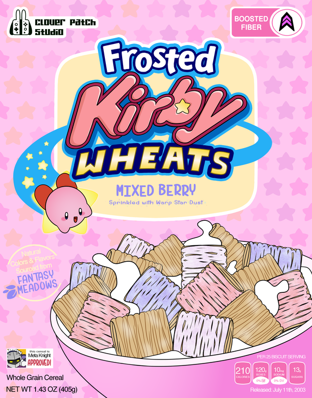 Frosted Kirby Wheats Poster