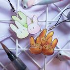 Takoyaki & Mochi Rabbits Charm