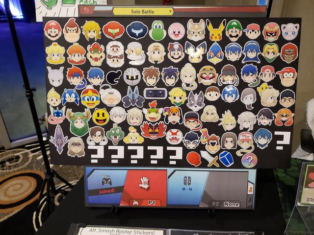 Smash Roster Sticker set up