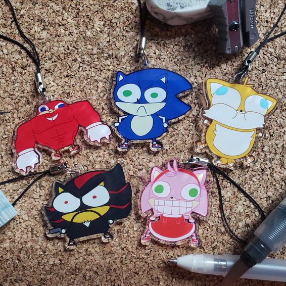 Sonic Acrylic Charms