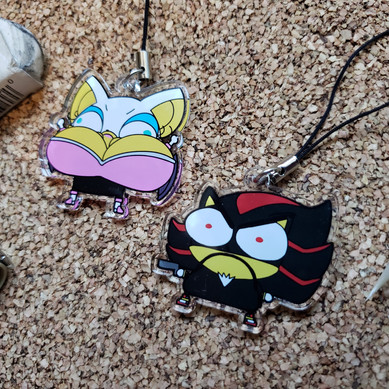 Rouge and Shadow Acrylic Charms