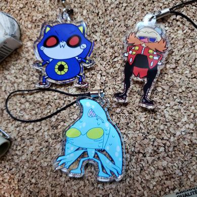Enemies of Sonic Acrylic Charms