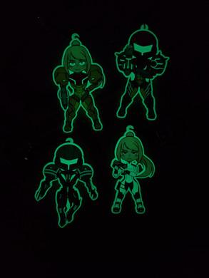 Glow in the Dark Metroid Charms [Glowing]