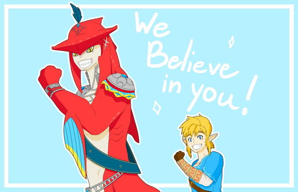 """Link and Sidon """"We Believe in You!"""" Poster"""