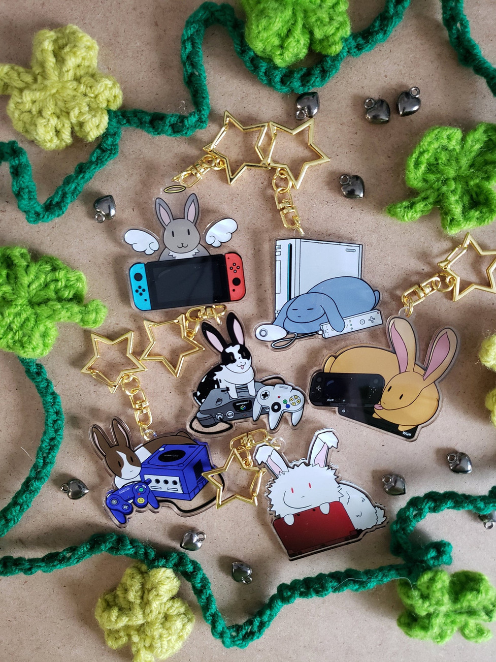 Gaming Bunnies Charms