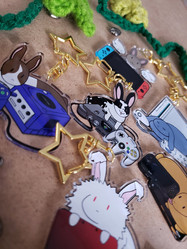 side view Bunny charms