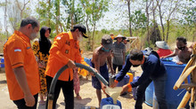 Droping Air Bersih BPBD Jatim Bergeser ke Bangkalan