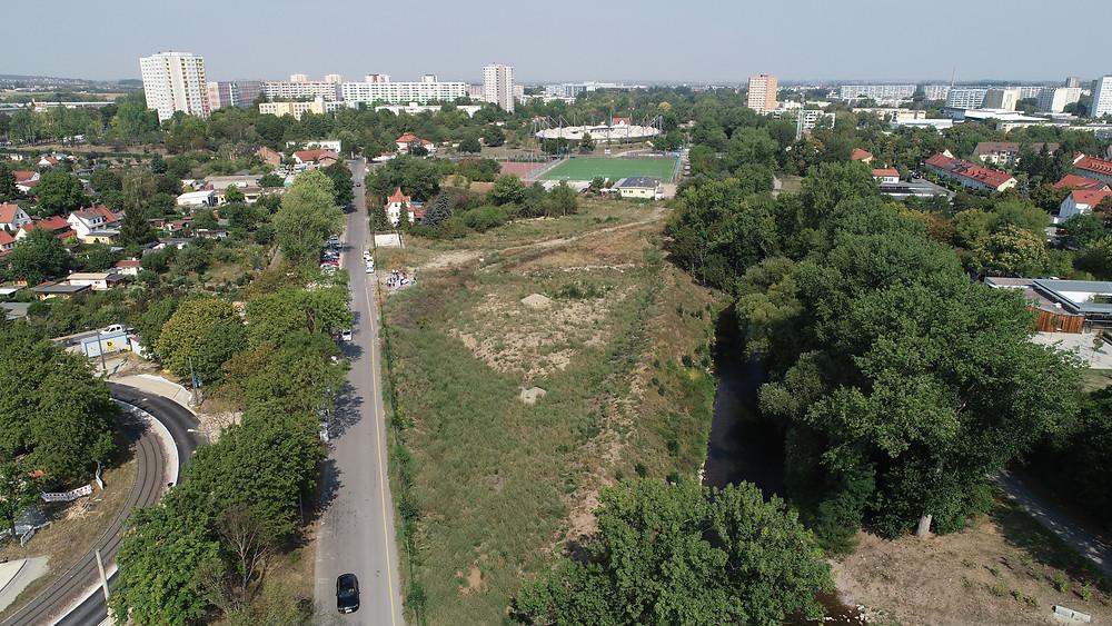 Luftaufnahme einer Grünanlage