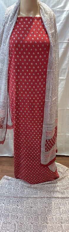 Bagh Print Cotton Suit