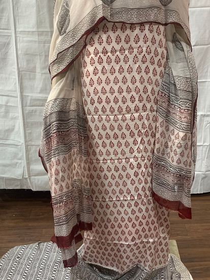 Bagh Print Modal Silk Suit