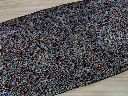 Ajrakh Print Mashru Silk Material