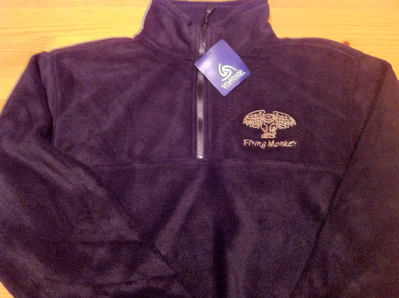 1/2 Zip Pullover Fleese-Black