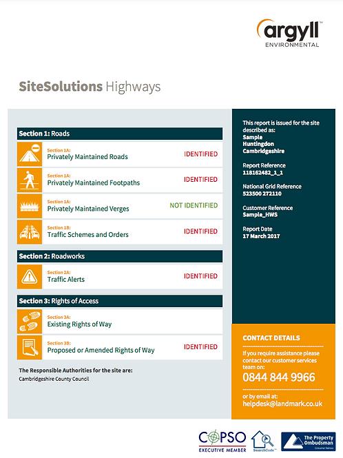 Landmark SiteSolutions Highways Search