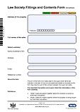 Fixtures & Contents Form TA10